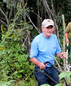 Gathering Hiking Sticks